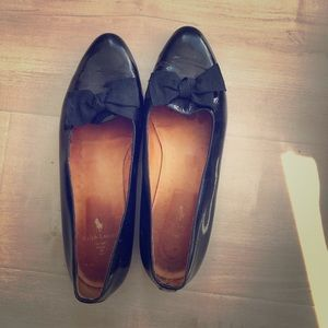 Ralph Lauren Leather Flats with Bow